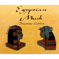 Kamini Cones EGYPTIAN MUSK BOX of 12 Packets