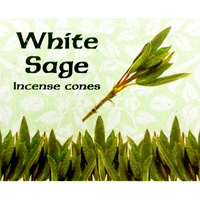 Kamini Cones WHITE SAGE BOX of 12 Packets
