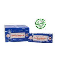 Satya Dhoop Sticks NAG CHAMPA BOX of 12 Packets