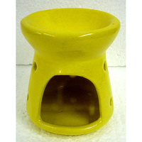 Ceramic OIL BURNER YELLOW Small 9cm