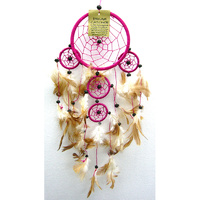 Dream Catcher PINK BROWN Small