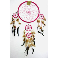 Dream Catcher PINK BROWN X Large