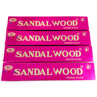 Bic SANDAL WOOD Flat Pack 25g BOX of 12 Packets