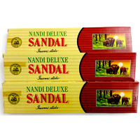 Nandi Deluxe SANDAL 25 stick BOX of 12 Packets