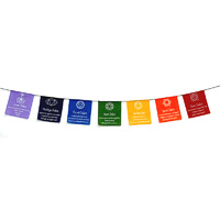 Prayer Flags CHAKRA VIVID Small 7
