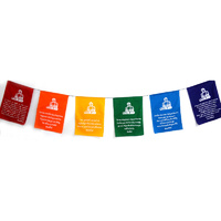 Prayer Flags BUDDHA VIVID Large 6