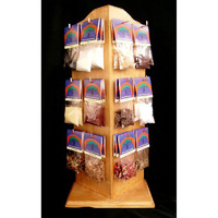 Resin & Wood Display Stand with 36 packets
