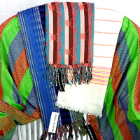Scarf D Coloured Stripes