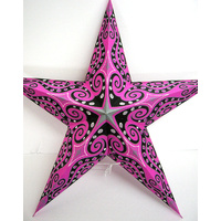 Star Hanging Lantern PINK BLACK