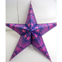 Star Hanging Lantern PURPLE PINK