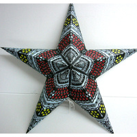Star Hanging Lantern BLUE LEMON RED
