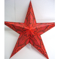 Star Hanging Lantern ORANGE BLACK