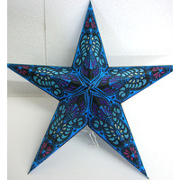 Star Hanging Lantern BLACK BLUE PINK