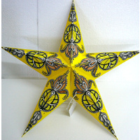 Star Hanging Lantern YELLOW BLACK