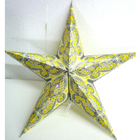 Star Hanging Lantern LEMON WHITE SILVER