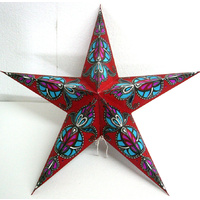Star Hanging Lantern RED AQUA PINK