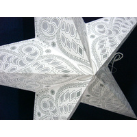 Star Hanging Lantern WHITE GREY