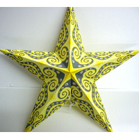 Star Hanging Lantern LEMON GREY