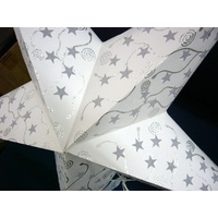 Star Hanging Lantern WHITE SILVER GREY