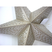 Star Hanging Lantern BEIGE EMBROIDERED