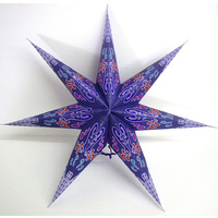 Star Hanging Lantern PURPLE AQUA ORANGE
