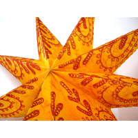 Star Hanging Lantern ORANGE EMBROIDERED 9PT