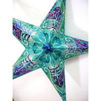 Star Hanging Lantern SEA GREEN