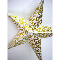Star Hanging Lantern WHITE GOLD