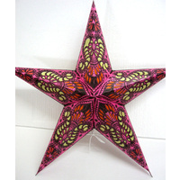 Star Hanging Lantern PINK YELLOW CUTOUT