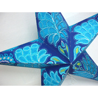 Star Hanging Lantern BLUE SPARKLE