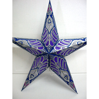 Star Hanging Lantern PURPLE SILVER SPARKLE