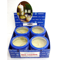 Satya Travel Candle NAG CHAMPA Box of 4 tins