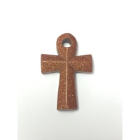 Ankh Pendant 40mm GOLDSTONE BROWN