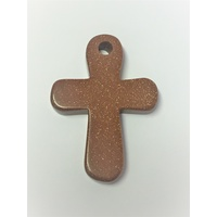 Ankh Pendant 55mm GOLDSTONE BROWN