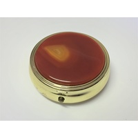 Pill Box RED AGATE 50mm