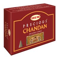 HEM Cones PRECIOUS CHANDAN BOX of 12 Packets