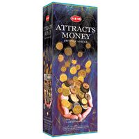 HEM Incense Hex ATTRACTS MONEY 20 stick BOX of 6 Packets
