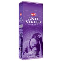 HEM Incense Hex ANTI STRESS 20 stick BOX of 6 Packets