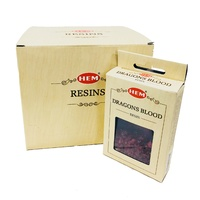 HEM Incense Resin DRAGONS BLOOD 30g, BOX of 12 Packets