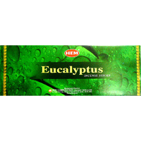 HEM Incense Square EUCALYPTUS 8 stick BOX of 25 Packets