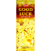 HEM Incense Square GOOD LUCK 8 stick BOX of 25 Packets
