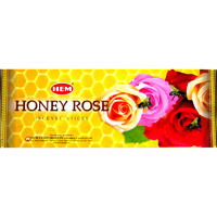 HEM Incense Square HONEY ROSE 8 stick BOX of 25 Packets