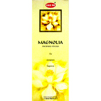 HEM Incense Square MAGNOLIA 8 stick BOX of 25 Packets