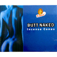 Kamini Incense Cones BUTT NAKED BOX of 12 Packets