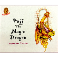Kamini Incense Cones PUFF THE MAGIC DRAGON BOX of 12 Packets