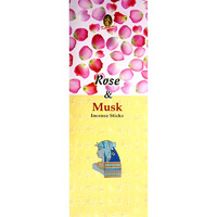 Kamini Incense Hex ROSE MUSK 20 stick BOX of 6 Packets