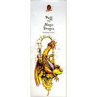 Kamini Incense Square PUFF THE MAGIC DRAGON 8 stick BOX of 25 Packets