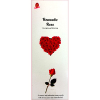 Kamini Incense Square ROMANTIC ROSE 8 stick BOX of 25 Packets