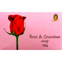 Kamini Soap ROSE & GERANIUM BOX of 12