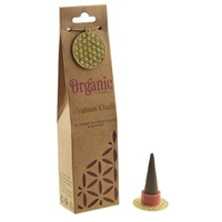 ORGANIC Goodness Incense Cones Arabian Oudh with Ceramic Holder